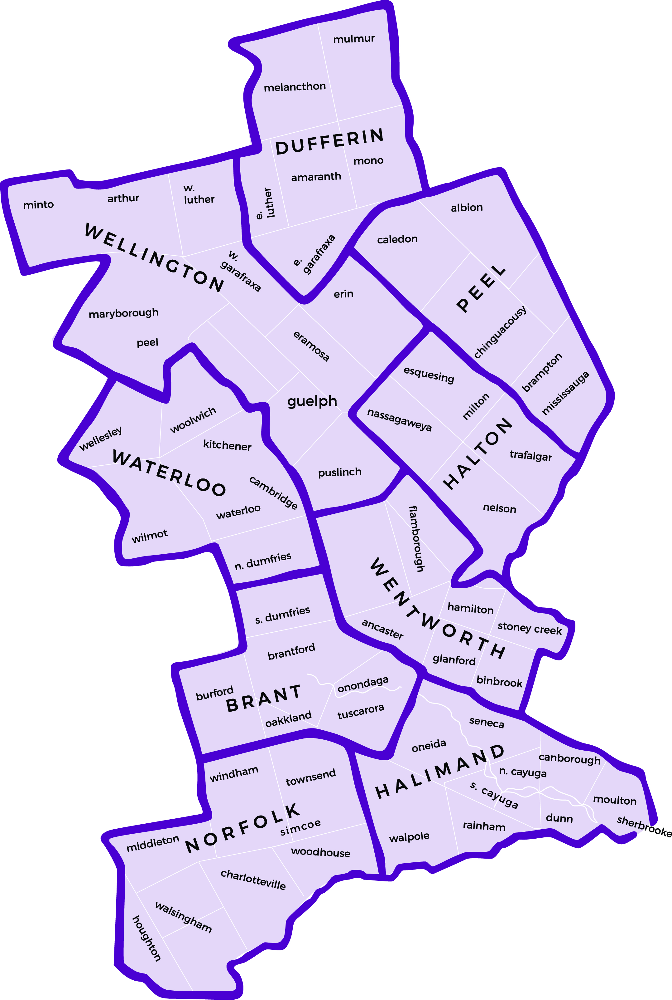 Areas Served by ESCO