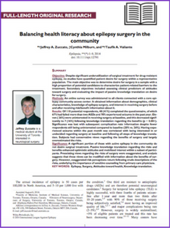 Balancing health literacy about epilepsy surgery in the community